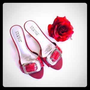 Franco Sarto Red Kitten Heels